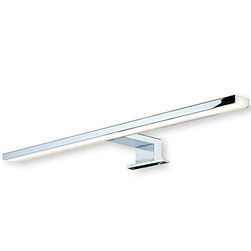 SO-TECH Lampada da Specchio LED Lampada da Montaggio Superficiale AALTO Alluminio Acciaio Cromo lucido | Lunghezza 500 mm | Lampada Bagno | Bianco Calido