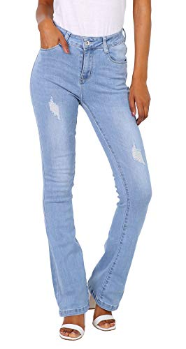 Goodies Damen Jeanshose Bootcut Stretch blau Schlaghose größe 38 - Low Rise Flare Stretch Jeans