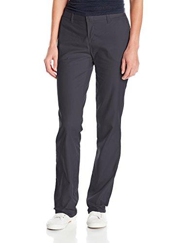 Dickies Damen Hose mit Flacher Vorderseite, knitterfrei, Fleckenabschluss - grau - 38 Regulär (Dickies Damen-hose Arbeit)