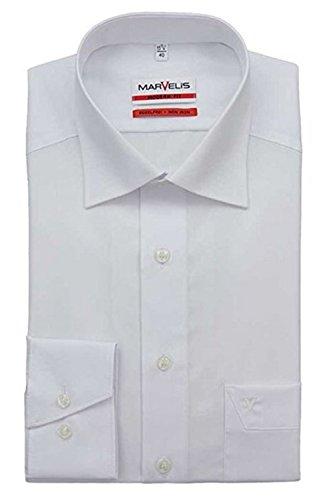 extra slim fit hemden MARVELiS-Hemd MODERN-FIT (schmaler Schnitt) 4700 uni Extra langer Arm: Farbe: 68-schwarz | Kragenweite: 44