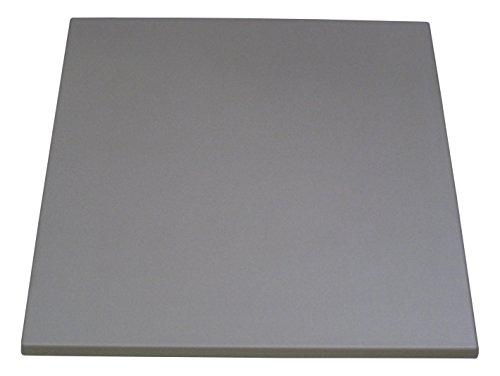 Werzalit Tischplatte, Eckig Stratos, hellgrau, 80 x 80 x 3.3 cm, 52200021