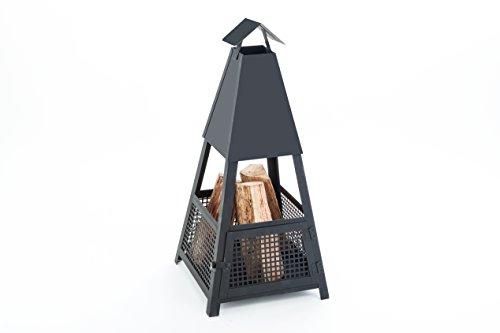 Profit-Garden-Terrassenkamin-Terrassenofen-Feuerstelle-fr-Garten-und-Terrasse-als-Pyramide-sekundenschneller-Auf-und-Abbau-durch-hochwertige-Steckverbindung-ohne-Schraubbefestigung-geprfte-Qualitt-Mad