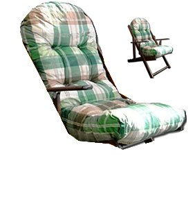 Liberoshopping Coussin rembourré de rechange pour chaise longue, avec tissu coton anti-déchirure