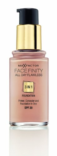 3 x Max Factor Face Finity Flawless 3 in 1 Foundation 30ml - 50 Natural