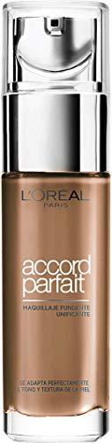 L'Oréal Paris Accord Parfait Base maquillaje acabado natural tono de piel bronceado...