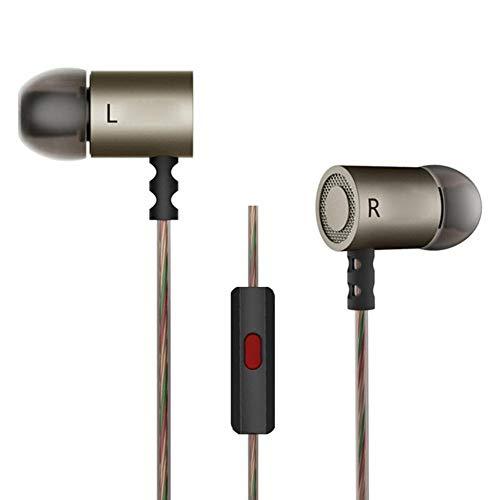amazingdeal ED4Stereo Kopfhörer Noise-Isolating In-Ear-Music in-Ear Headset mit Mikrofon