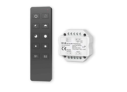 LED FUNK Dimmer 230V inkl. Fernbedienung max. 240W