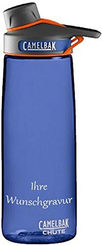 CAMELBAK Trinkflasche Chute, 750 ml (Marine Blue, mit Namensgravur, 750 ml) (Chute Marine Blue Camelbak)