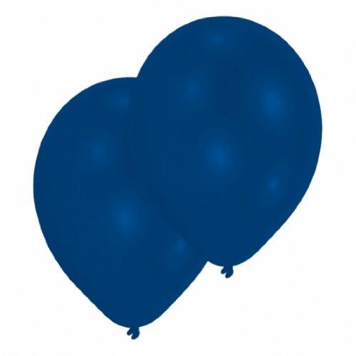 Amscan 27.5 cm 10 Luftballons, Royal Blau