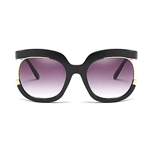 MoHHoM Sonnenbrille Sonnenbrille Frauen Übergroße Große Hälfte Rahmen Uv400 Vintage Sonnenbrille Retro Brillen Für Die Weiblichen Schwarzen