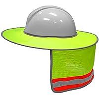 YUnnuopromi - Parasol de Seguridad para Casco con Tira Reflectante para Sombreros de construcción, Amarillo