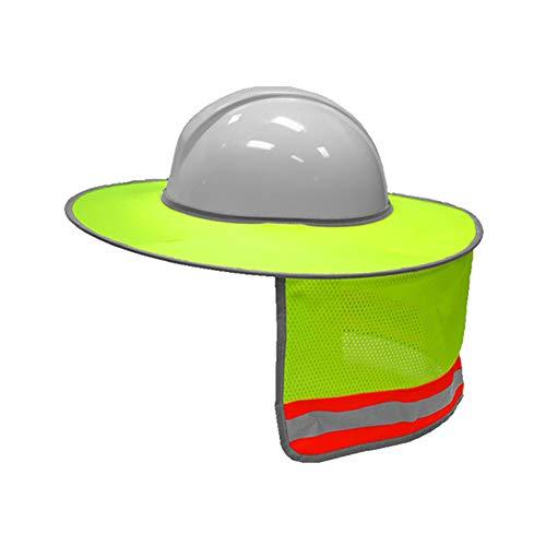 YUnnuopromi Schutzhut Sonnenschutz Schutzhelm Nackenschutz Sonnenschutz mit Reflektorstreifen für Konstruktion Hardmützen