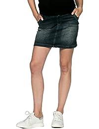 Love2Wait Umstandsrock Sarah Jeans Damen Umstandsmode dark wash B999004