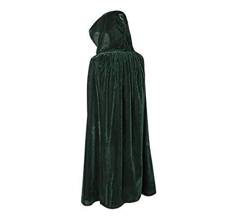 WETERS Halloween Umhang Erwachsene Kind Stumm Velvet Cape COS Todteufel Hexe Umhang Multi Farbe Umhang,90Cm (Velvet Sexy Hexe Kostüm)