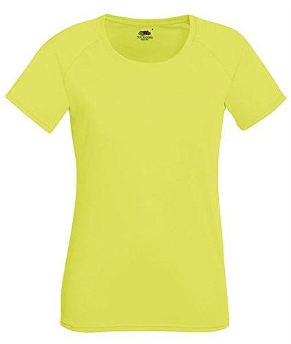 ATELIER DEL RICAMO - T-shirt de sport - Femme Giallo Fluorescente
