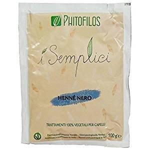 Phitofilos - hennè nero - trattamento 100% vegetale per un colore intenso - 100 gr