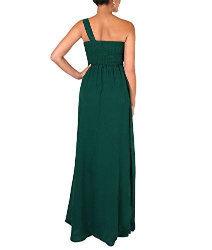 KRISP® Damen Elegante Maxi Kleider Bodenlange Festkleider Dunkelgrün (4814)
