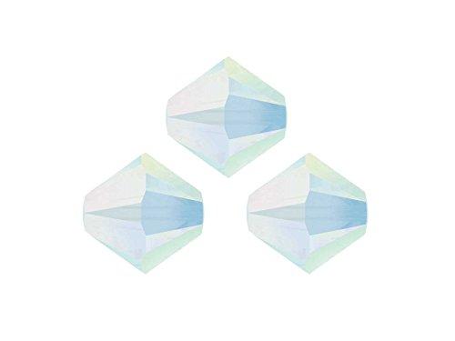 Creative-Beads Swarovski Crystalperlen für glitzernden Schmuck aus eigener Werkstatt, 6 mm, Großhandels-Packung 50 Stück, white opal