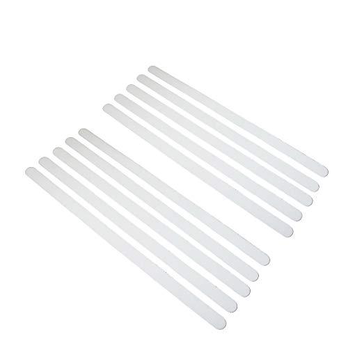 SlippySafe Anti Rutsch Sticker Streifen für Badewanne und Dusche - 12er Set, Rutschfest, Selbstklebend, Transparent, Wasserfest