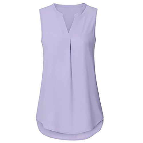 Damen Sommer Tank Crop Tops Vest Tanktops Weste Cami DOLDOA Oberteile T-Shirt Geburtstags Geschenk Für Frauen Mädchen Freundin (EU:42, Lila - 15) (Cami Lace G-string)