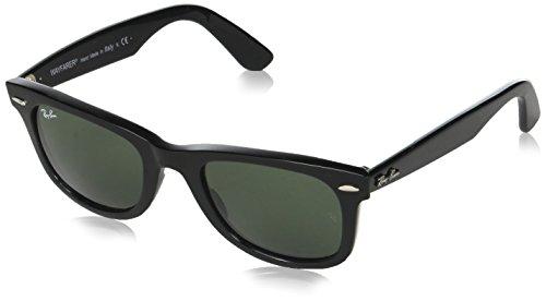 065e5b9af5 Ray-Ban RB2140 Original Wayfarer Sunglasses 50 mm,Black Frame/Crystal Green  Lens