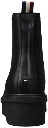 Hilfiger Denim D1385eena 2a, Stivali Chelsea Donna Nero (Black)