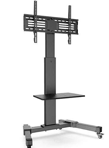 FITUEYES TV Ständer TV Wagen mit Rollen Fernseh Standfuß Drehbar Höhenverstellbar 32 bis 65 Zoll LED LCD TV Plasma TC208701MB