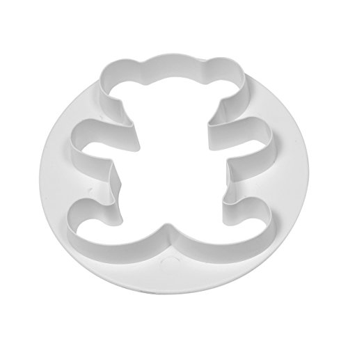 PME-Cutter a forma di orsetto, in plastica, colore: bianco, 23 mm