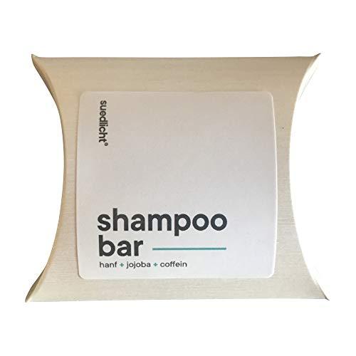 Shampoo Bar | Naturkosmetik mit Hanf + Jojoba + Coffein | suedlicht ® - Natürliche Solid Shampoo