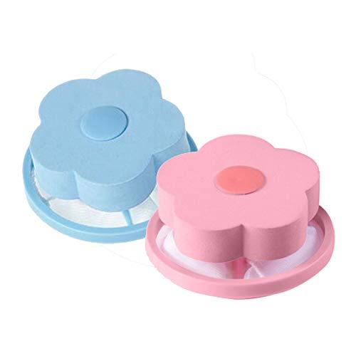 LIMITA Möbel Wohnaccessoires,Mesh-Filterung Haarentfernung Floating 2Pcs Filterbeutel Waschmaschine Stil Wäscherei sauber (Blau)