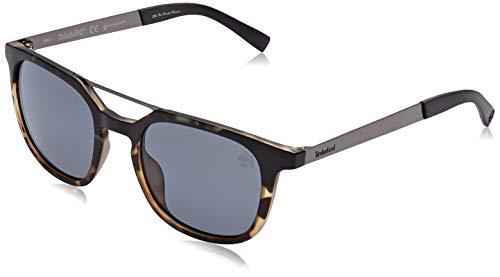 Timberland tb9133 occhiali da sole, coloured havana/smoke polarized, 51 uomo