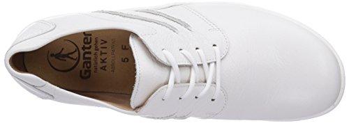 Ganter Aktiv Fee, Weite F, Derby Femme Blanc - Weiß (weiss 0200)