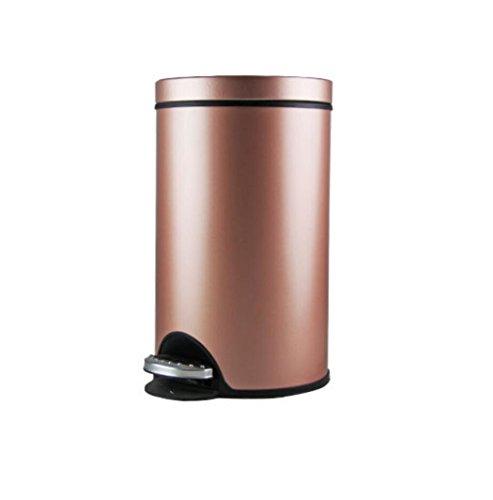 LyMei Mülleimer mit Schritt Fußpedal Edelstahl Weich und Leise öffnen und Schließen für Badezimmer, Küchen, Home Offices, Schlafsäle,...