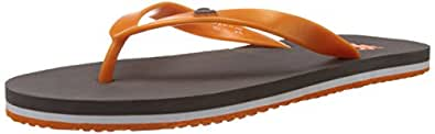 United Colors of Benetton Men's Basic 1 Dark Grey and Orange Flip-Flops and House Slippers - 10 UK/India (44.5 EU)