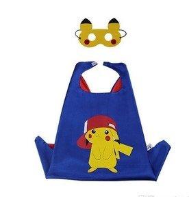 Imagen de ducomi® superhero disfraz con capucha y capucha, de un tamaño  unisex y adecuado para niños de 3 a 10 años  unisex y adecuado para niños de 3 a 10 años pikachu pokemon  alternativa