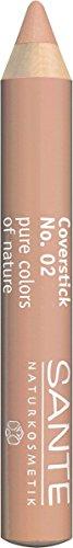 SANTE Naturkosmetik Coverstick Nr.02 medium, Zur Abdeckung von Augenringen, kleinen Äderchen & Pigmentflecken, Bio-Extrakte, 2g