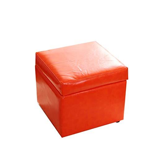 leather footstool Otomano y Puff Taburete de Cuero Taburete pequeño T