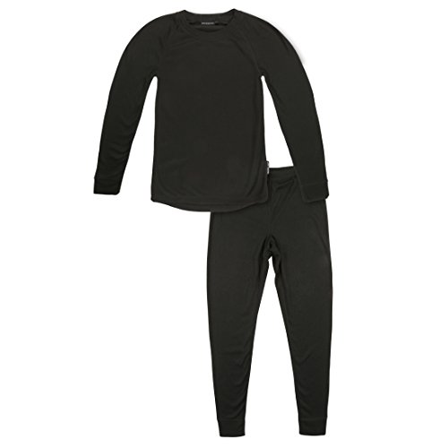 Ultrasport Kinder Thermounterwäsche Set mit Quick-dry Funktion, schwarz, 164