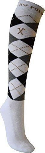 HV Polo Socken Argyle white-navy 39-42