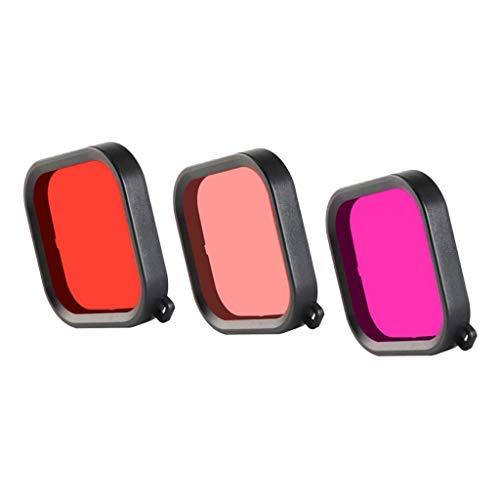 Shiwaki Rot + Pink + Lila Tauchen Filter Objektivdeckel Für GoPro Hero 8 Schwarz Gehäuse Fall