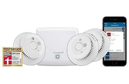 Homematic IP Smart Home Starter Set Rauchwarnmelder - Intelligenter Alarm lokal und per App aufs Smartphone, 150788A0 Sd-starter