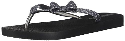 Ipanema Filles Lolita IV Kids Schwarz/Silbern Zehensandalen 33/34 - Glitter Bow Flats Schuhe