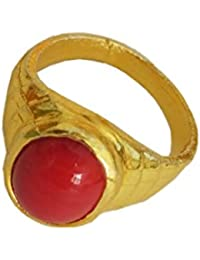 Munga/Red Coral Stone Ring By RICH AND FAMOUS