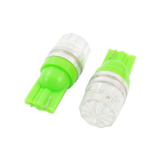 Sourcingmap 2 Pcs LED Ampoule Verte Lampe Tableau de Bord Panneau Indicateur 12V 1.5W T10 pour Voiture