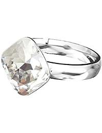 db1df5f5de14b Bague Crystals and Stones - En argent 925 - Décorée avec un cristal  Swarovski Elements en