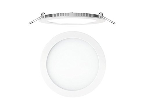 Secom 4296080184-Foco aircom Micro LED circular 8W 4000° K-920Lm IP44-empotrada blanco