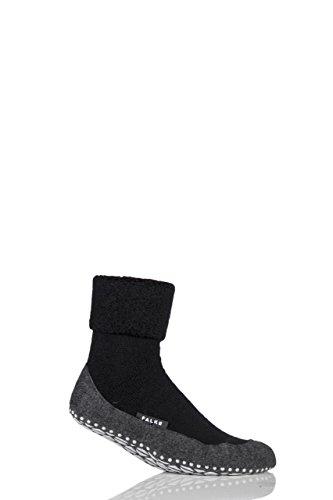 FALKE Herren 1 Paar Cosyshoe Schurwolle Startseite Socken schwarz 43-44
