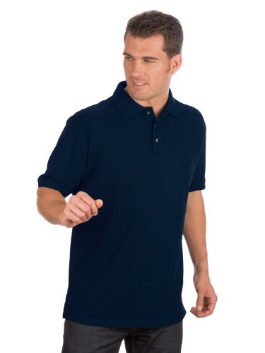 Qualityshirts Kurzarm Pique Polo Shirt, Gr. 3XL, dunkelblau