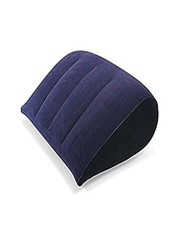 gonflé Oreiller, léger, compressible en PVC gonflable floqué Air Taie d'oreiller pour oreiller Tapis de posture de sexe, sexuel, siège arrière pour adultes, sans pompe