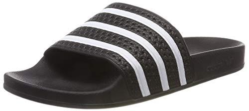adidas ADILETTE, Herren Pantoffeln, Schwarz (Black/White/Black), 42 EU (8 UK) (Jordan Retro 4 Große Kinder)